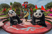 Pandas arrive on The Silk Road, Chengdu Garden - The Chelsea Flower Show organised by the Royal Horticultural Society with M&G as its MAIN sponsor for the final year.