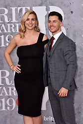February 20, 2019 - London, United Kingdom of Great Britain and Northern Ireland - Gemma Atkinson and Gorka Marquez arriving at The BRIT Awards 2019 at The O2 Arena on February 20, 2019 in London, England  (Credit Image: © Famous/Ace Pictures via ZUMA Press)