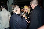 TERRY JONES; PAM HOGG, 30 Years Of i-D - book launch. Q Book 5-8 Lower John Street, London . 4 November 2010. -DO NOT ARCHIVE-© Copyright Photograph by Dafydd Jones. 248 Clapham Rd. London SW9 0PZ. Tel 0207 820 0771. www.dafjones.com.