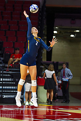 BLOOMINGTON, IL - September 15: Hannah Vanden Berg during a college Women's volleyball match between the ISU Redbirds and the Marquette Golden Eagles on September 15 2019 at Illinois State University in Normal, IL. (Photo by Alan Look)