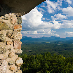 The view from the stone fire tower at the John Wingate Weeks State Historic Site.  Lancaster, New Hampshire.