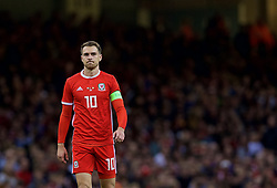 CARDIFF, WALES - Thursday, October 11, 2018: Wales' Aaron Ramsey during the International Friendly match between Wales and Spain at the Principality Stadium. (Pic by Laura Malkin/Propaganda)