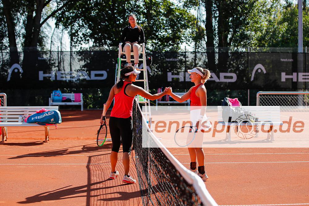 Arianne Hartono (NED), Malene Helgo (NOR) - WTO Wiesbaden Tennis Open - ITF World Tennis Tour 80K, 21.9.2021, Wiesbaden (T2 Sport Health Club), Deutschland, Photo: Mathias Schulz