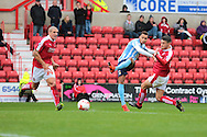 Coventry City striker Jacob Murphy during the Sky Bet League 1 match between Swindon Town and Coventry City at the County Ground, Swindon, England on 24 October 2015. Photo by Jemma Phillips.