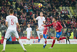 November 15, 2018 - Gdansk, Pomorze, Poland - Marcin Kaminski (19) Patrik Schick (19) during the international friendly soccer match between Poland and Czech Republic at Energa Stadium in Gdansk, Poland on 15 November 2018  (Credit Image: © Mateusz Wlodarczyk/NurPhoto via ZUMA Press)
