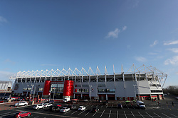 Middlesbrough's Riverside Football Stadium before the Sky Bet Championship match at The Riverside Stadium, Middlesbrough.