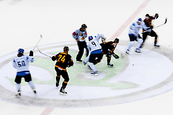 Players during ice-hockey match between Germany and Finland of Group E in Qualifying Round of IIHF 2011 World Championship Slovakia, on May 6, 2011 in Orange Arena, Bratislava, Slovakia. Finland defeated Germany 5-4 after overtime and shootout. (Photo By Vid Ponikvar / Sportida.com)