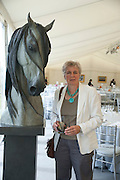 ARTIST; GILL PARKER, The Dalwhinnie Crook  charity Polo match  at Longdole  Polo Club, Birdlip  hosted by the Halcyon Gallery. . 12 June 2010. -DO NOT ARCHIVE-© Copyright Photograph by Dafydd Jones. 248 Clapham Rd. London SW9 0PZ. Tel 0207 820 0771. www.dafjones.com.