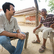 CAPTION: . LOCATION: Baharayen, Faizabad District, Uttar Pradesh, India. INDIVIDUAL(S) PHOTOGRAPHED: From left to right - Ambarish Singh and Lucky Yadav.