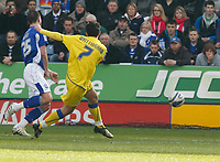 Photo: Steve Bond/Richard Lane Photography. Leicester City v Cardiff City. Coca Cola Championship. 13/03/2010. Peter Whittingham puts a Cardiff chance wide