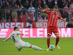 20180121, 1.BL, FC Bayern vs Werder Bremen, Allianz Arena Muenchen, Fussball, Sport, im Bild:...Jerome Gondorf (Bremen) vs Joshua Kimmich (FCB)..*Copyright by:  Philippe Ruiz..Postbank Muenchen.IBAN: DE91 7001 0080 0622 5428 08..Oberbrunner Strasse 2.81475 MŸnchen, .Tel: 089 745 82 22, .Mobil: 0177 29 39 408..( MAIL:  philippe_ruiz@gmx.de ) ..Homepage: www.sportpressefoto-ruiz.de. (Credit Image: © Philippe Ruiz/Xinhua via ZUMA Wire)