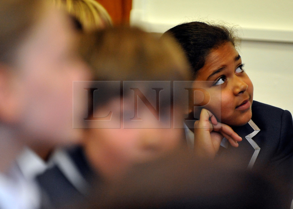 © licensed to London News Pictures. LONDON, UK.  09/09/11. A year seven pupil. London Mayor Boris Johnson joins Chair of Governors Toby Young to officially open the The West London Free School (WLFS). The WLFS is an 11-18 secondary school, which has been set up by a group of parents and teachers in Hammersmith. The school is led by headmaster Thomas Packer . Mandatory Credit Stephen Simpson/LNP