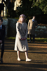 Lady Louise Windsor after attending the Christmas Day morning church service at St Mary Magdalene Church in Sandringham, Norfolk.