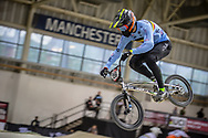 #156 (VERHOEVEN Mathijs) BEL during practice at the 2019 UCI BMX Supercross World Cup in Manchester, Great Britain