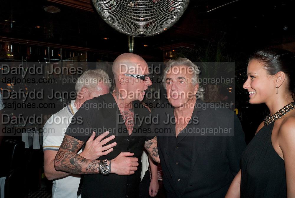 ADEE PHELAN; PETER STRINGFELLOW;  BELLA WRIGHT;; , launch of Adee Phelan's Fabulous Haircare Range, Frankie's Italian Bar and Grill, 3 Yeomans Row, off Brompton Road, London SW3, 7pm *** Local Caption *** -DO NOT ARCHIVE-© Copyright Photograph by Dafydd Jones. 248 Clapham Rd. London SW9 0PZ. Tel 0207 820 0771. www.dafjones.com.<br /> ADEE PHELAN; PETER STRINGFELLOW;  BELLA WRIGHT;; , launch of Adee Phelan's Fabulous Haircare Range, Frankie's Italian Bar and Grill, 3 Yeomans Row, off Brompton Road, London SW3, 7pm