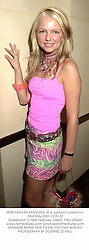 MISS HANNAH SANDLING at a  party in London on 23rd May 2001.OON 32
