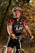 Mountain Bikers Kevin Brady and Dan Letsche at Ponca Sate Park, Ponca, Nebraska