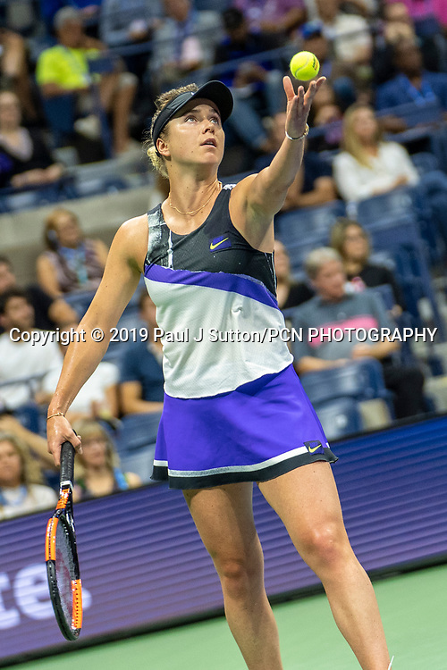 Elina Svitolina of  Ukraine competing in the Women's Semi-Finals of the 2019 US Open Tennis Championships.
