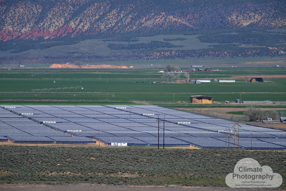 """#SignOfClimateProgress<br /> <br /> The Red Hills Renewables Park, in Parowan, Utah, is a 104 MW capacity solar photovoltaic (PV) project.  Solar PV can be one of the least harmful forms of electricity generation to the environment.  This project appears to mainly displace local agricultural lands that would otherwise be a sage brush valley, and is located adjacent to a major interstate electricity transmission corridor.  Solar PV is also quickly becoming more economically competitive than fossil fuels and nuclear generated electricity, and is by far """"safer.""""  As the saying goes, """"a major solar radiation spill is called """"a nice day.""""  Compared to any other fossil or nuclear energy fuel spill, leak, or accident, one can hardly argue the point credibly."""