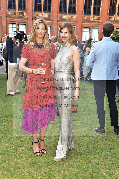 Left to right, Olivia Hunt and Susanna Warren at the Victoria & Albert Museum's Summer Party in partnership with Harrods at The V&A Museum, Exhibition Road, London, England. 20 June 2018.