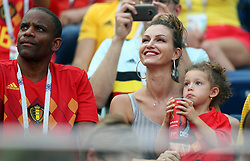 July 14, 2018 - Saint-Petersburg, RUSSIA - Witsel's father Thierry, wife Rafaella Szabo and daughter Mai-Li pictured ahead of a soccer game between Belgian national soccer team the Red Devils and England, the third place play-off of the 2018 FIFA World Cup, Saturday 14 July 2018 in Saint-Petersburg, Russia. ..BELGA PHOTO BRUNO FAHY (Credit Image: © Bruno Fahy/Belga via ZUMA Press)