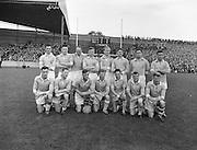 Neg no:.A786/43507-04366...17081958AISFCSF..17.08.1958, 08.17.1958...All Ireland Senior Football Championship - Semi-Final..Dublin.02-07.Galway.01-09...Dublin Team.. .P. O'Flaherty, L. Foley, M. Wilson, Joe Timmons, C. O'Leary, J. Crowley, J. Boyle, John Timmons, S. Murray, P. Haughey, O. Freaney, D. Ferguson, P. Farnan, J. Joyce, K. Heffernan (Captain).Subs: Maurice Whelon for Murray; P. Downey for John Timmons.