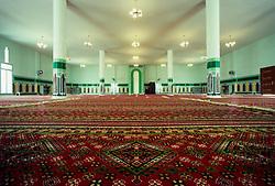 Interior of Islamic Mosque in Salwa, Saudi Arabia.