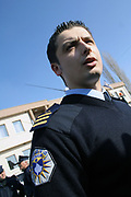 """SERB MEMBERS OF KPS SUSPENDED FOR UNDETERMINED PERIOD<br /> <br /> Gjilan, Graçanica, Kosovo<br /> Friday, February 29, 2008<br /> <br /> With the order of the Police MHQ in Pristina, on Friday, police members from the lines of Serb community from Gjilan region (eastern Kosovo) have been suspended; they don't recognize Albanian KPS (Kosovo Police Service) members order.<br /> Today also in Graçanica, a village populated with Serbs around 12 km far away from Pristina, KPS HQ (Kosovo police Service Headquarter) get information that than a group of Local Serbs members of KPS from Northern Police station, are attending to took under control Graçanica police station, as result to create another KPS institution only with Serbs and under control and role of law which came from Belgrade.<br /> Around more than 70 Serbs KPS members in Graçanica in charge of them chef Commander Stojan MILLOSHEVIÇ, all day of this Friday they decide to stay outside of police station in Graçanica, as them unhappiness expression against Kosovo Independence proclaimed on 17th February 2008.<br /> According to KPS HQ spokesman Agron BOROVCI,"""" KPS Serbs members can return to them positions of work, deadline is Saturday, March 1, 2008 until 12.00/pm, if they will not return back and recognize orders which came from HQ, they will be reject from KPS (Kosovo Police Service) says Borovci.<br /> Friday's situation in Graçanica has been monitored from many KFOR members and many civilian officers from Serbia, also for this situation most of citizens from Graçanica didn't care at all for this situation which came as result of Serbs KPS members.<br /> PICTURED: KPS Spokesman Agron BOROVCI is declaring KPS HQ decision; deadline is tomorrow (Saturday, March 01, 2008) who ever want to return back on working place he says"""