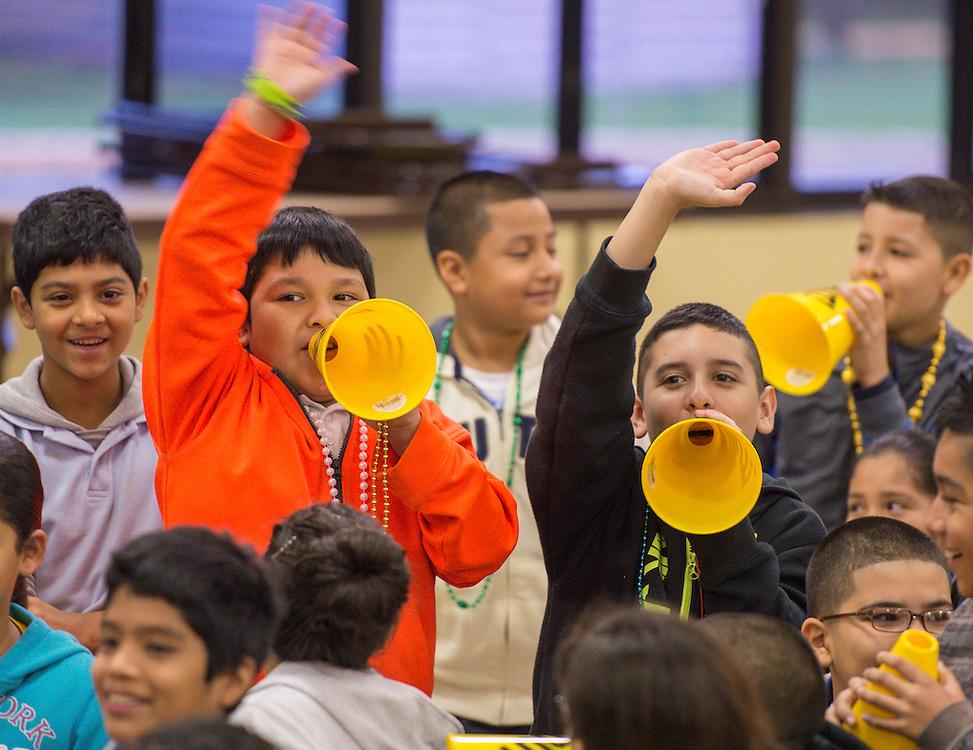 Real Men Read rally at Sanchez Elementary School, November 25, 2013.