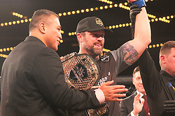 December 30, 2018 - United States - Vinny Magalhaes of Brasil lost to Sean O'Connel of USA by knockout and thus making Sean  win $1 million during the 205 Light Heavyweight category of PFL 2018 World Championships at Hulu Theater-Madison Square, New York. (Credit Image: © Niyi Fote/Pacific Press via ZUMA Wire)