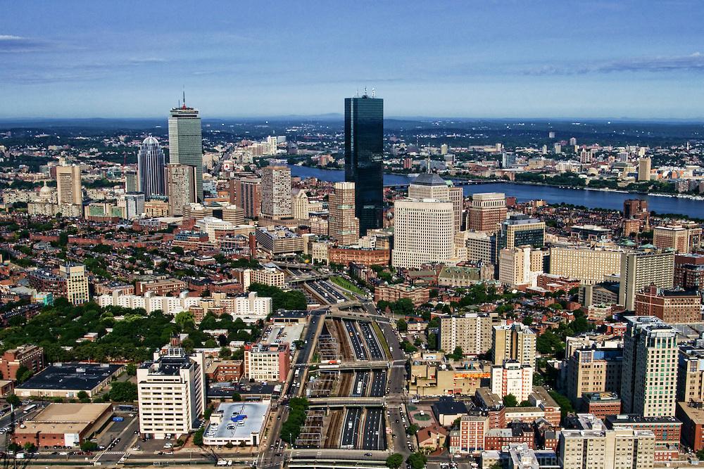 Massachusetts Turnpike & Back Bay Skyline