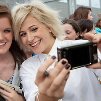 Picture shows : Pixie Lott meets fans prior to the shows..Clyde 1 Live.SECC, Glasgow..30th September 2011.Picture  © Drew Farrell Tel 07721-735041. .Note to Editors:  This image is free to be used editorially in the promotion of the Clyde 1 Live. Without prejudice ALL other licences without prior consent will be deemed a breach of copyright under the Copyright, Designs and Patents Act 1988.