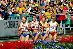 11-08-2006 ATLETIEK: EUROPEES KAMPIOENSSCHAP: GOTHENBURG <br /> Tomashova, Tatyana (RUS), Chizhenko, Yuliya (RUS) en Chojecka, Lidia (POL) op de 1500 meter<br /> ©2006-WWW.FOTOHOOGENDOORN.NL