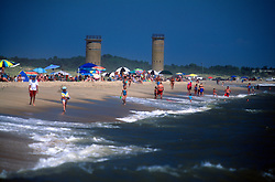 Unidentified sun worshipers prowl the beach at North Shores, Monday, Aug. 19, 2019 in Rehoboth Beach, Del. (Photo by D. Ross Cameron)