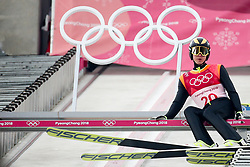 PYEONGCHANG-GUN, SOUTH KOREA - FEBRUARY 14: Marjan Jelenko of Slovenia preparing for a jump during the Nordic Combined Individual Gundersen Normal Hill and 10km Cross Country on day five of the PyeongChang 2018 Winter Olympics at Alpensia Cross-Country Centre on February 14, 2018 in Pyeongchang-gun, South Korea. Photo by Kim Jong-man / Sportida