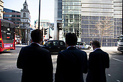City workers in the City of London, England, United Kingdom.