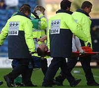 Photo: Daniel Hambury.Digialsport<br /> Coca Cola League Two<br /> Oxford United V Rushden & Diamonds .  11/9/2004.<br /> <br /> Rushden & Diamonds' Gary Mills is taken off after being injured