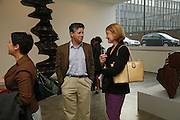 Ali Silverstein, Peter Soros and Maria Peacock, Sculptures. Tony Cragg. Lisson Gallery. Bell st. Collectors opening. 15 May 2006.  ONE TIME USE ONLY - DO NOT ARCHIVE  © Copyright Photograph by Dafydd Jones 66 Stockwell Park Rd. London SW9 0DA Tel 020 7733 0108 www.dafjones.com