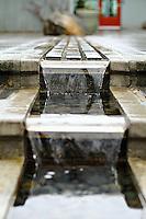 Tiered water feature at Bellevue Botanical Gardens