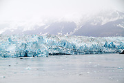 Part of the massive six mile long face of the Hubbard Glacier as irt flows into the ocean.Southeast Alaska