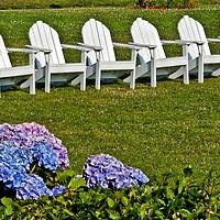 Adirondack Chairs, Block Island, Rhode Island