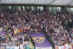 Fans at last football match of PrvaLiga Telekom Slovenije between NK Maribor and NK Interblock, when Maribor became a Slovenian National Champion, on May 23, 2009, in Ljudski vrt, Maribor. (Photo by Marjan Kelner/Sportida)