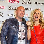 NLD/Amsterdam/20120618 - Inloop Meest Sexy Mannelijke BN'er , genomineerde Dean Saunders en Vivian Reijs