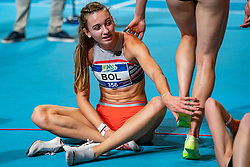 Femke Bol after the 400 meter during AA Drink Dutch Athletics Championship Indoor on 21 February 2021 in Apeldoorn.