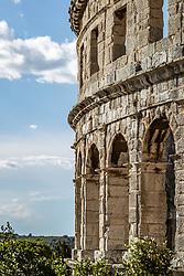 THEMENBILD - das Amphitheater Pula, aufgenommen am 27. Juni 2018 in Pula, Kroatien // the Pula Arena, Pula, Croatia on 2018/06/27. EXPA Pictures © 2018, PhotoCredit: EXPA/ JFK