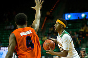 WACO, TX - JANUARY 3: Royce O'Neale #00 of the Baylor Bears brings the ball up court against the Savannah State Tigers on January 3, 2014 at the Ferrell Center in Waco, Texas.  (Photo by Cooper Neill) *** Local Caption *** Royce O'Neale
