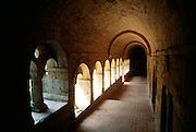 France, Sospel, Alpes Maritimes, Provence, Arched corridor.