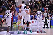 DESCRIZIONE : Trento Lega A 2015-16 Dolomiti Energia Trentino - Consultinvest Pesaro<br /> GIOCATORE : Dolomiti Energia Trento<br /> CATEGORIA : Esultanza<br /> SQUADRA : Dolomiti Energia Trentino - Consultinvest Pesaro<br /> EVENTO : Campionato Lega A 2015-2016 <br /> GARA : Dolomiti Energia Trentino - Consultinvest Pesaro<br /> DATA : 08/11/2015 <br /> SPORT : Pallacanestro <br /> AUTORE : Agenzia Ciamillo-Castoria/M.Gregolin<br /> Galleria : Lega Basket A 2015-2016 <br /> Fotonotizia : Trento Lega A 2015-16 Dolomiti Energia Trentino - Consultinvest Pesaro