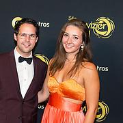 NLD/Amsterdam/20191009 - Uitreiking Gouden Televizier Ring Gala 2019, Victor Mids en partner Myrthe