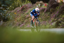 Juliette Labous (FRA) at the 2020 UEC Road European Championships - Elite Women ITT, a 25.6 km individual time trial in Plouay, France on August 24, 2020. Photo by Sean Robinson/velofocus.com